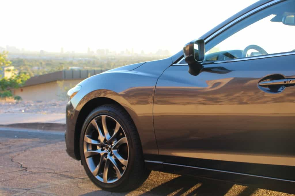 Holiday Road Trip Tips: Take a Trip, Travel Locally, silver Mazda6 in the Phoenix, arizona sun