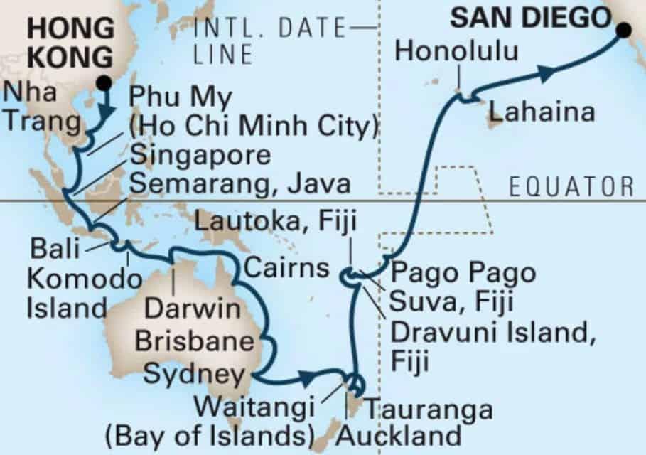 Map Around the World Tour, Halcrises, travel photograph