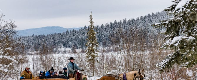 Sleigh ride, Montana's Winter Wonderland – ski Whitefish