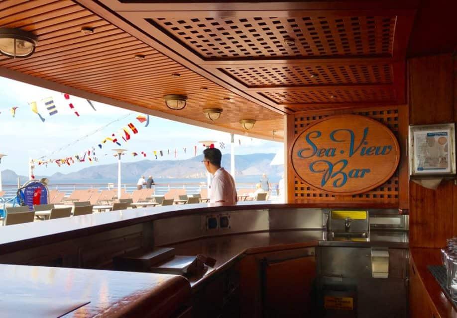 Come cruise Holland America on a global cruise, Sea View Bar