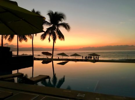 Sunset at Hyatt Ziva Puerto Vallarta, Puerto Vallarta all inclusive resort, best Puerto Vallarta hotels on the beach