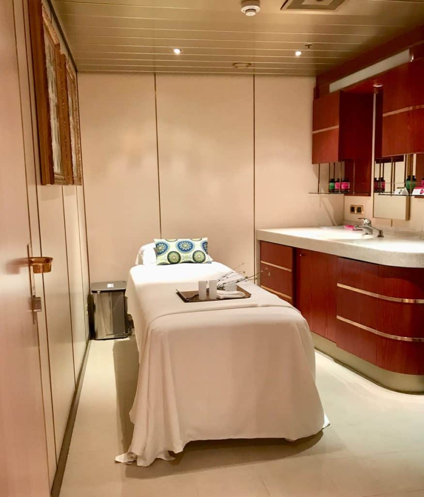 The spa on the cruise Holland America, a global cruise.