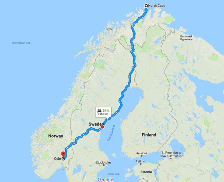 North Cape Map, Norway, Things to do in Norway, Norway winter