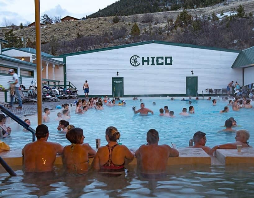 Chico Hot Springs, Hot Springs Hot Tub, Montana