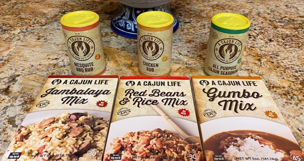 Louisiana Foods, Jambalaya Mix, Gumbo Mix, Red beans and rice