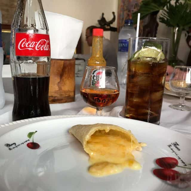 Cuba Libre con empanada queso, Dominican Republic Food, Dominican republic foods, Dominican Republic Restaurant, dominican breakfast, dominican Republic fruit