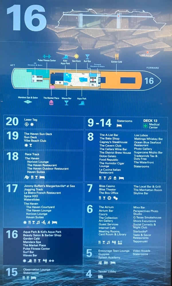 NCL deck plans, dining options, Norwegian Bliss Deck Plans