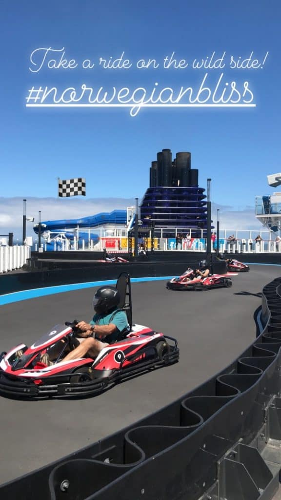 racetrack, NCL deck plans, dining options, Norwegian Bliss Deck Plans
