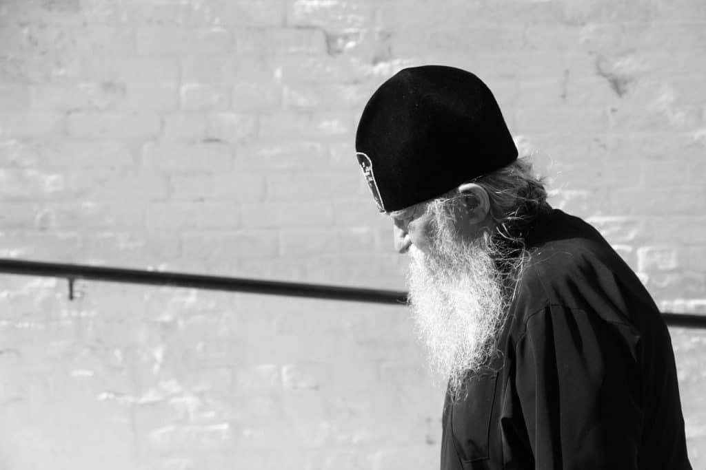 Orthodox priest in Kiev