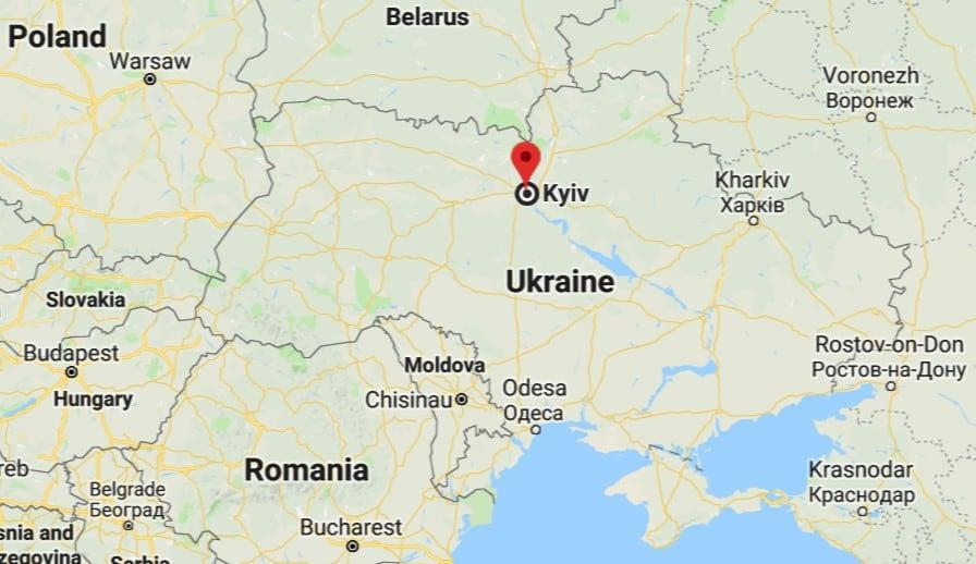 Map of Kiev Ukraine