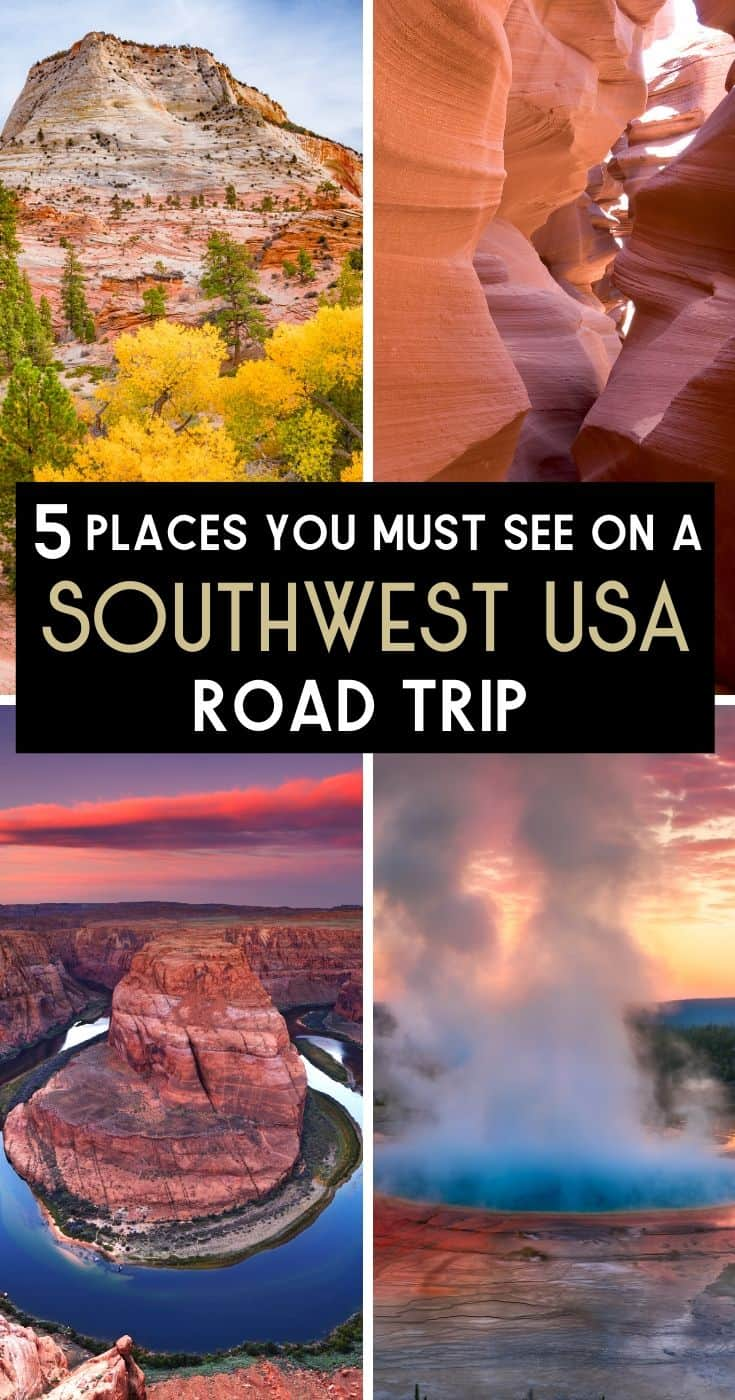 5 places you must see on a southwest USA road trip, American Attractions, amazing landscapes, #Southwest #SouthwestUSA #USA