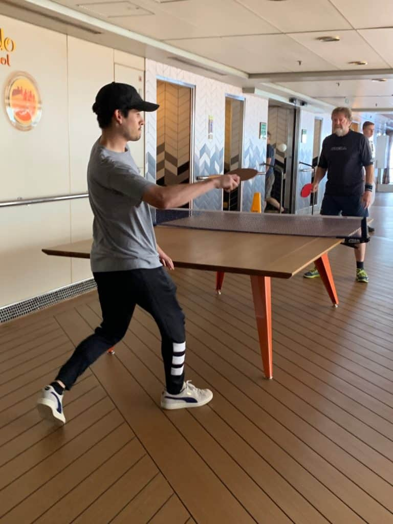Ping pong, South Pacific Cruise, South Pacific Island Cruise, Pacific Cruises, Maasdam Review