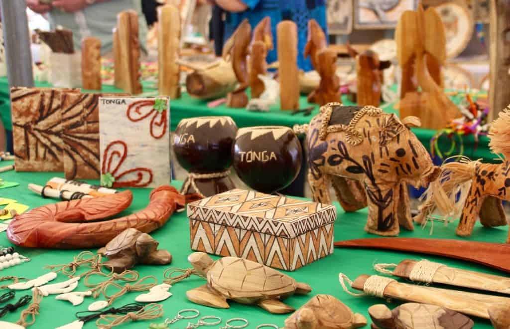 Tonga Tourism souvenirs in Nuku'alofa