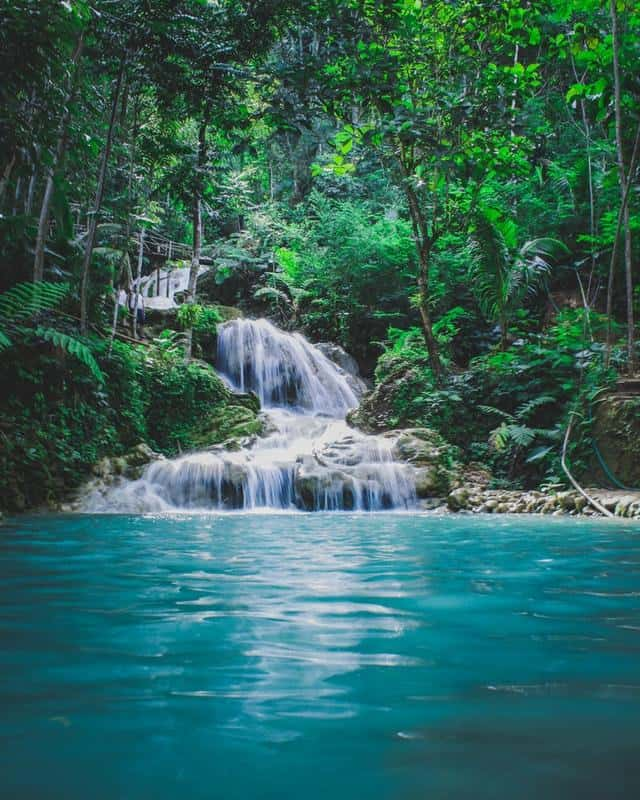 Caribbean Waterfalls, Waterfall of the Caribbean, Lagoons and waterfalls of the Caribbea