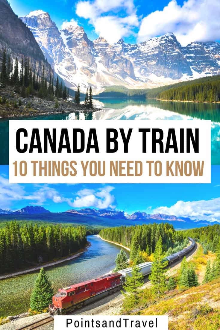 How to travel Canada by train: 10 things to know before taking a train across parts of Canada. What to pack, what the food service on the train will be like, the viewing platform, and even the best time to visit this gorgeous country.   Canada Bucket list   What to see in Canada   How to travel Canada by train   Canada Train Travel   #canada