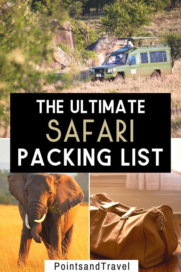 the ultimate safari packing list, safari packing list, safari outfit #Safari #packinglist #Safaripackinglist #Africa