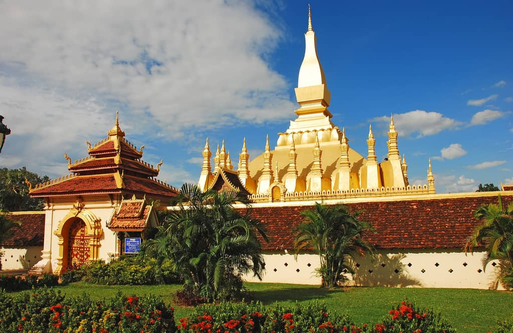 Pha That Luang in Vientian Laos, Laos Vacation