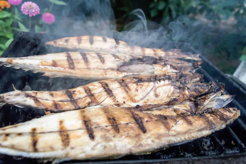 Grilled Lavraki, Greek food, Greek food list, Greek Mediterranean food