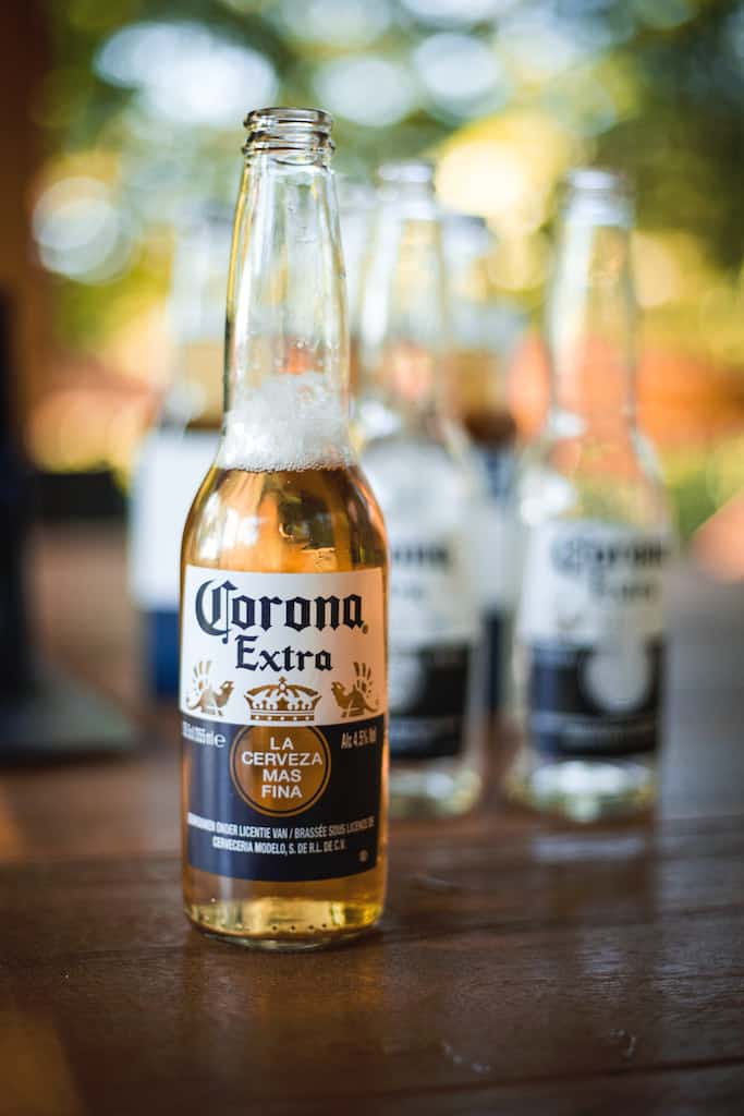 Corona Beer for drinking in Mexico