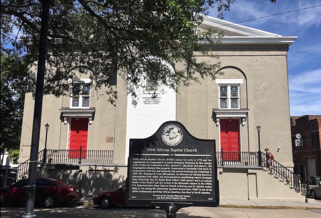 First AFrican Baptist Church in Savannah GA