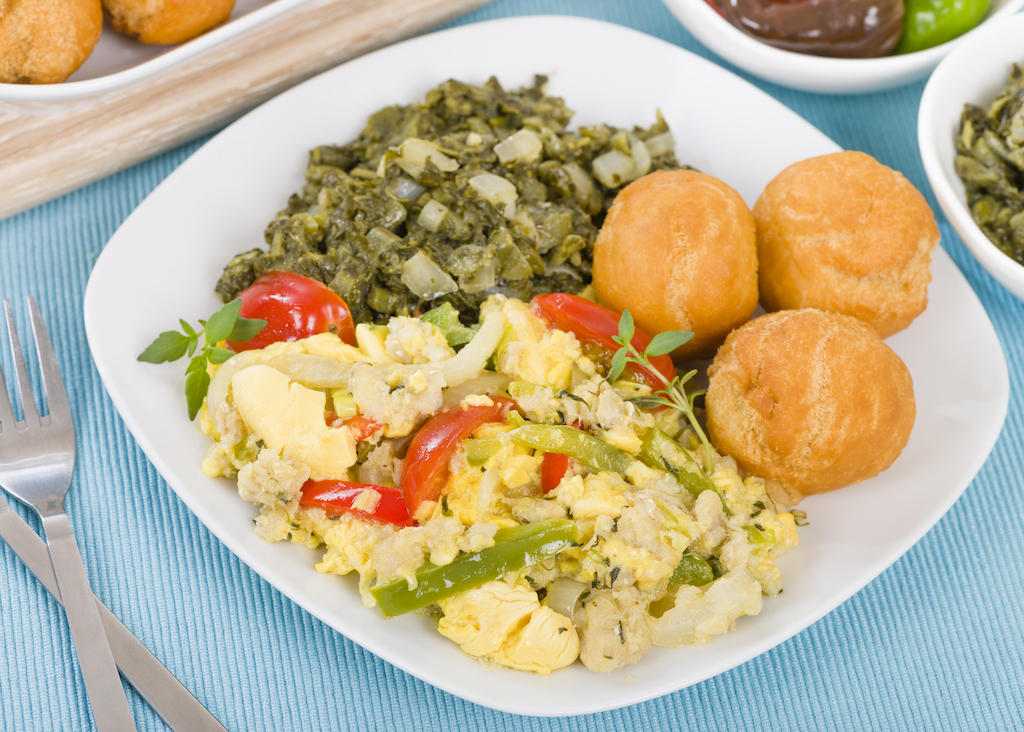 Ackee and Saltfish, Jamaican Food, Jamaican dish, Jamaican cuisine