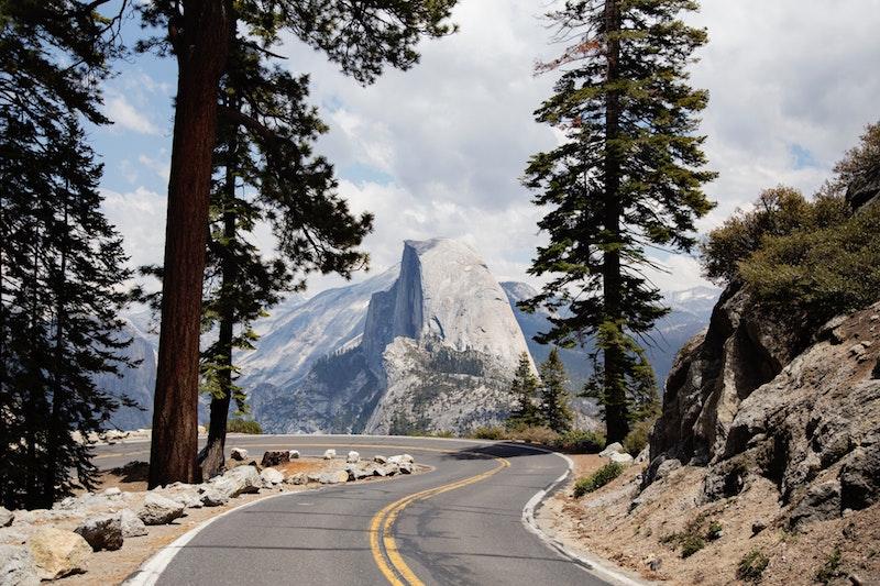 Glacier Point Road in Yosemite National Park