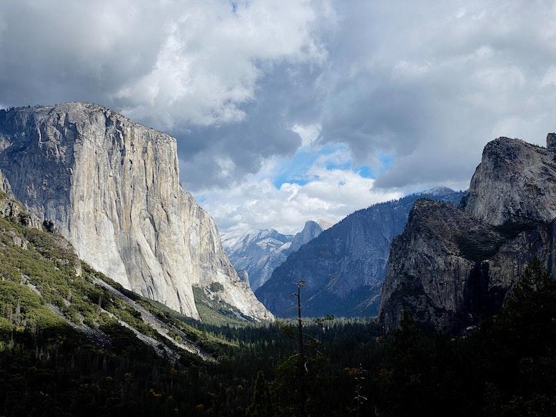 Storm building over Yosemite Valley, California
