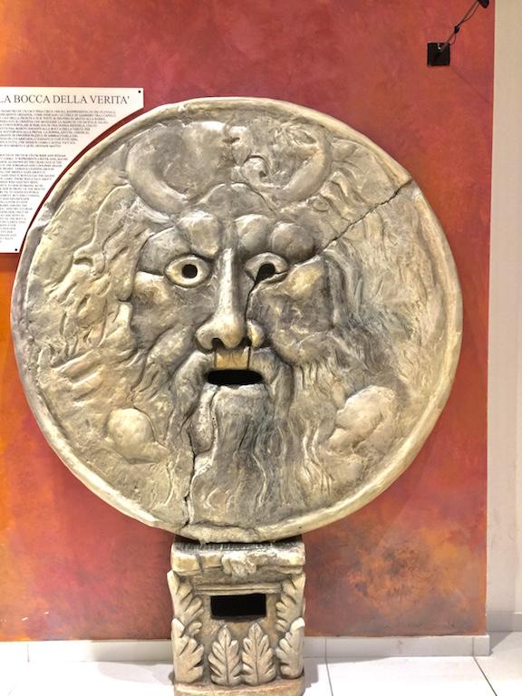 Bocca Della Veritas or the Mouth of Truth in Rome Italy