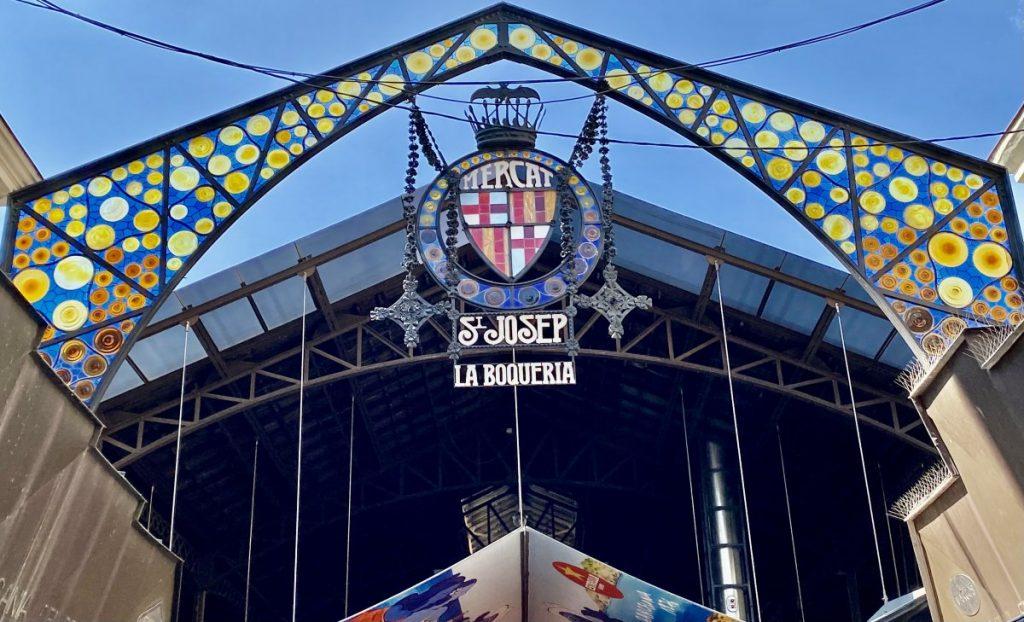 La Boqueria in Barcelona Spain early morning