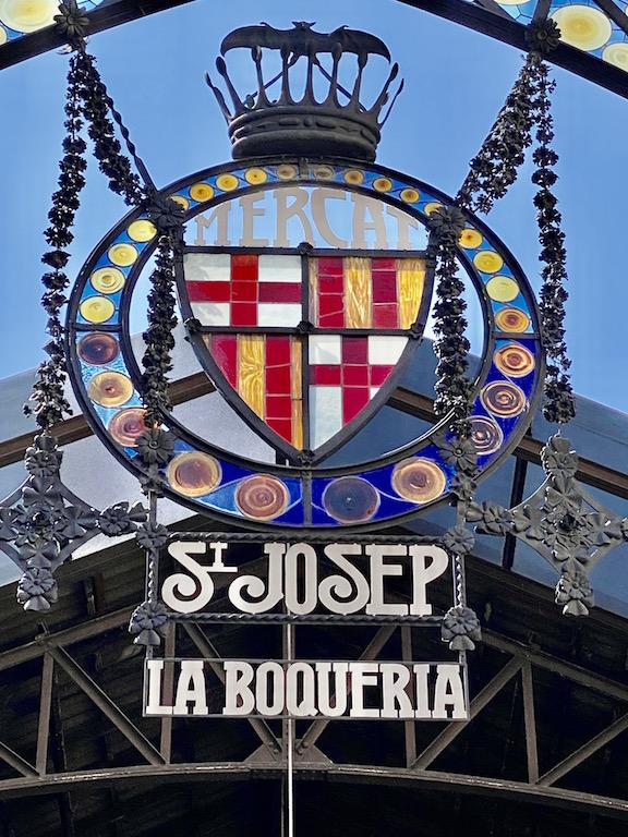 La Boqueria in Barcelona Spain