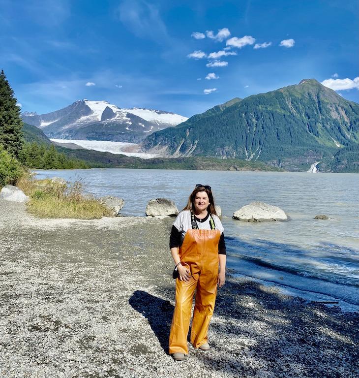 Me at the Mendenhall Glacier