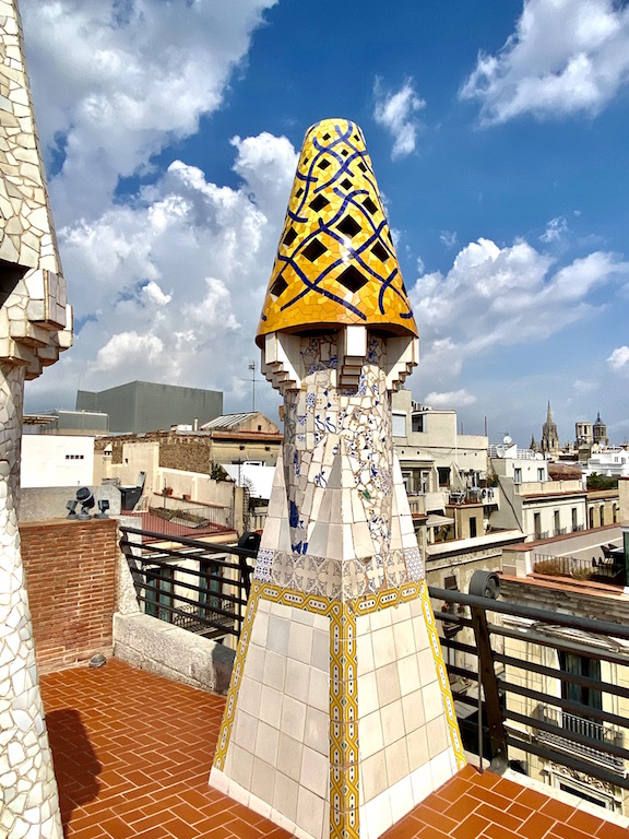 Palau Guell in Barcelona Spain
