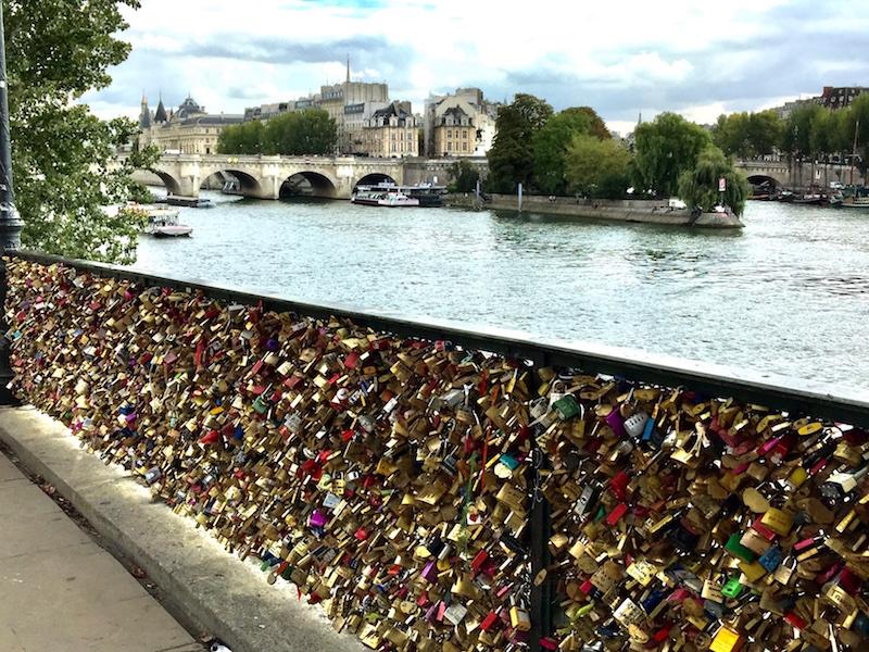 River Locks on the Siene River in Paris France
