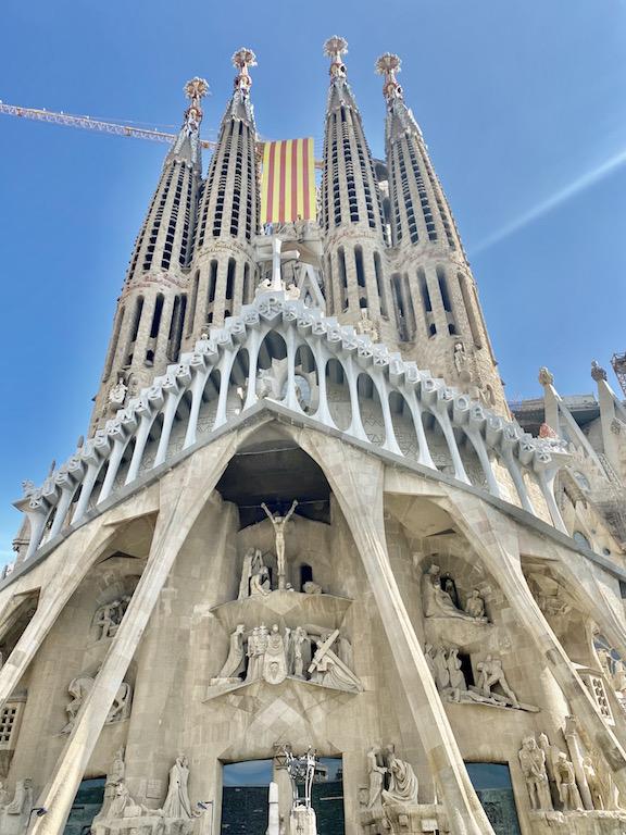 Sagrada Familia by Gaudi in Barcelona Spain