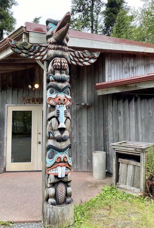 Totem Pole in front of Potlatch Park