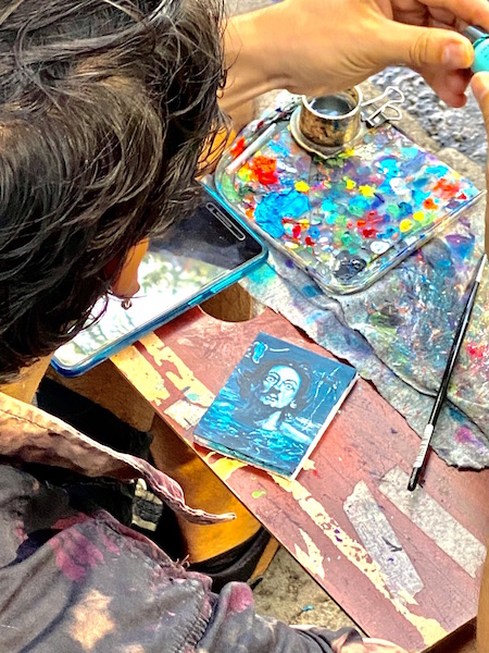 Artist or painter in Barcelona