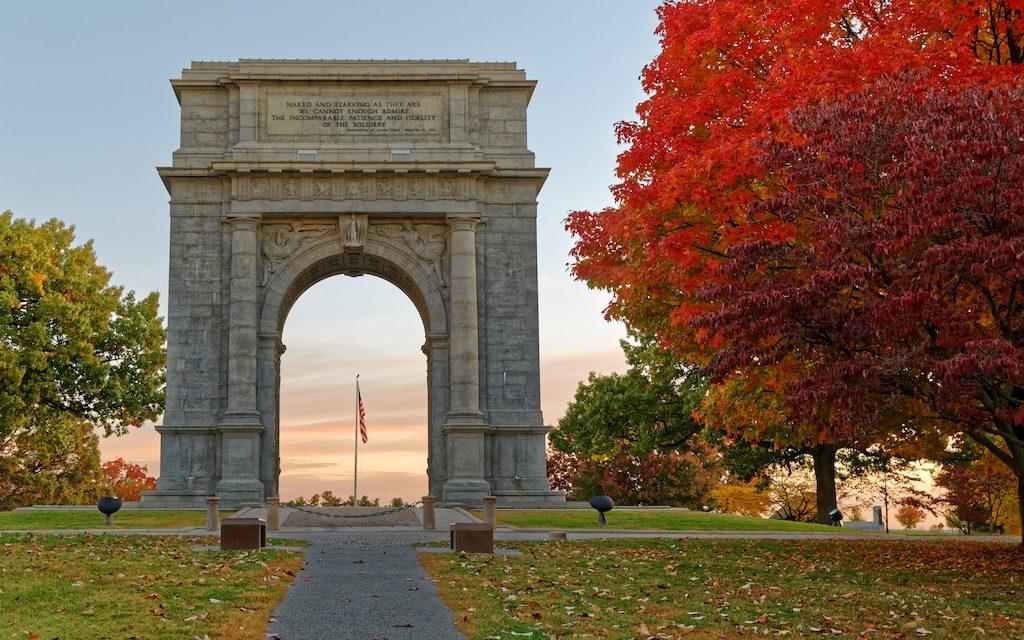 Memorial Arch at Valley Forge, One Day in Philadelphia, #Philadelphia, #Pennsylvania
