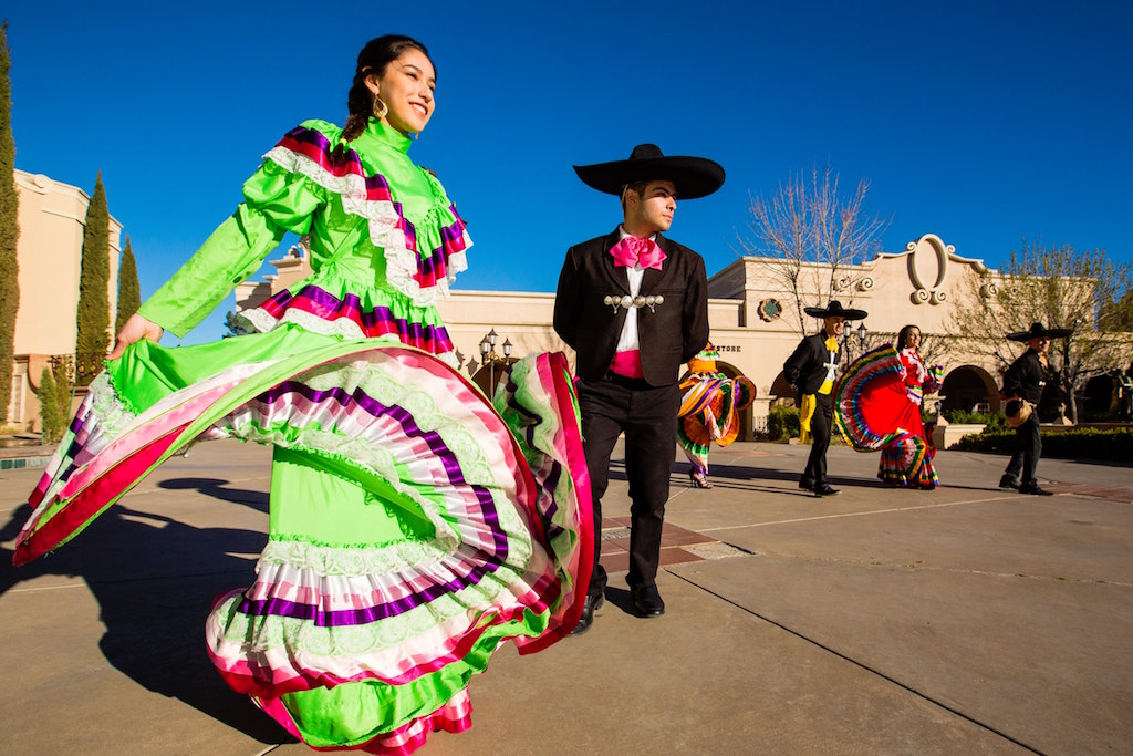 Colorful Flamenco Dresses with man