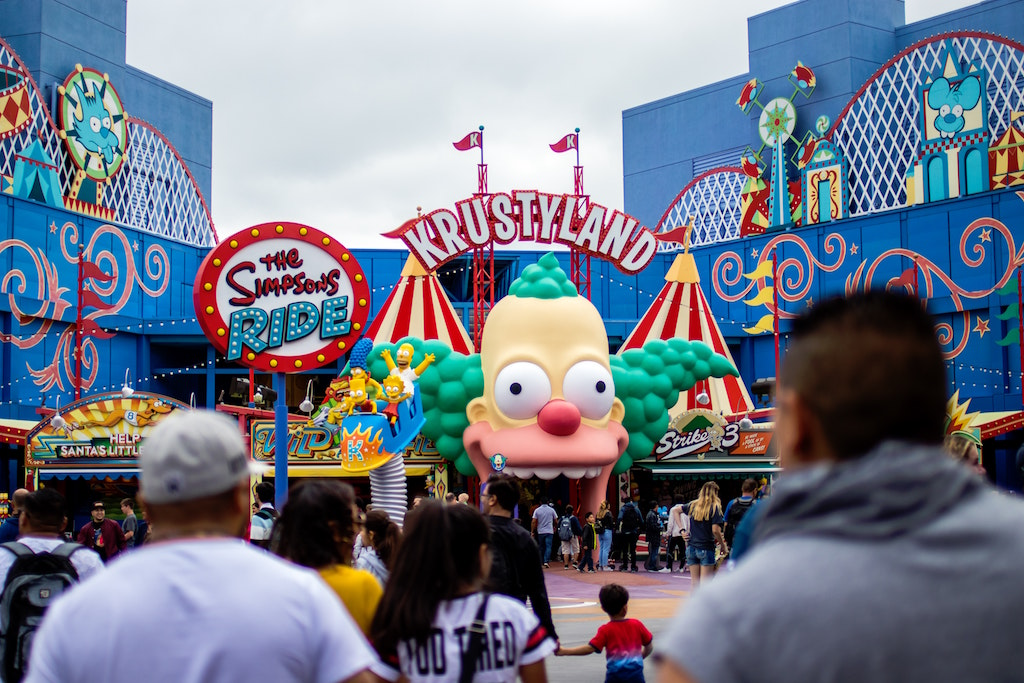 The Simpson's Ride, Krustlyand, Universal Studios Hollywood