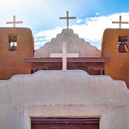 Where to stay in Taos, Famous Taos Pueblo church in New Mexico, USA