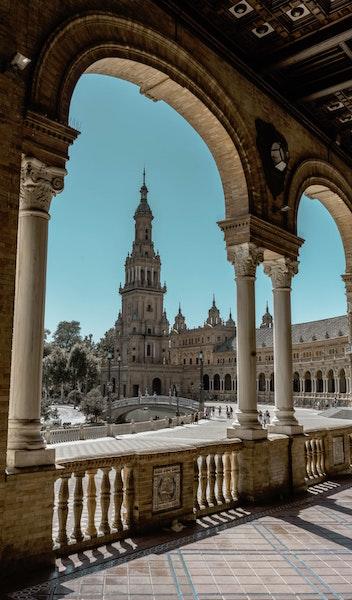 Seville Spain, Plaza de España